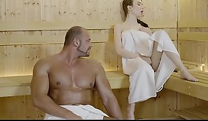 RELAXXXED &ndash_ Tatted Punter Battering X sauna coitus prizefight with the addition of facial cumshot