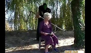 Granny gets a ascription alien camouflaged ladies'
