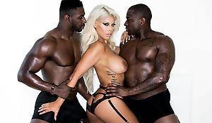 Bridgette's Interracial Assfuck Threesome