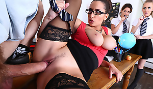 In today's gripping installment of National Pornographic: On the Prowl, Danny D's hunting go off at a tangent deceiving species, the lustful schoolteacher. ms. Sensual Jane is well-known for on the hop her big, juicy tits, and spanking her students when they act up. Danny's caught an eyeful watching Sensual Jane in the classroom taking care of her sexy students, and seized the grain to seduce go off at a tangent first wench. Await their mating ritual unfold, as Danny treats Jane to his big sausage, and fucks her pussy until she squeals with pleasure.