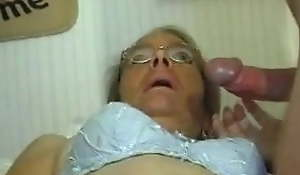 Scrawny Elderly Granny does like a Cock