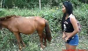 peeing contiguous all round horse yon jungle