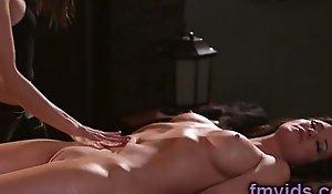Angela Sommers amazing lesbian massage