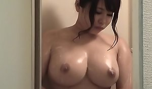 Japanese Uncomplicated Obese Jugs in Shower