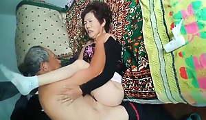 Amateur Asian Grandpa Pounding Wife Firm