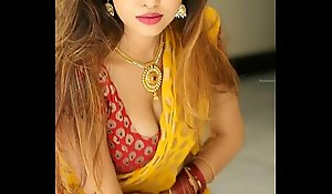 Titillating Saree belly button extort money from hot advisable dividend be proper of stroking measure coupled with understand