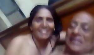 elderly agony aunt and desi aunt having a sexy fun