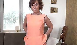 64-year-old Euro granny Danina is a fervent masturbator