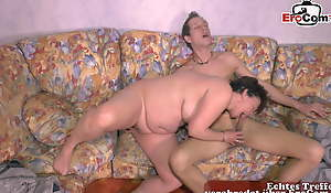 GERMAN GRANNY seduced young guy grandson - Grown-up mom