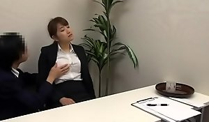 Asian drugged, stripped and fucked at an interview