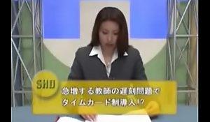 Japanese anchorwoman bukkake