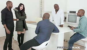 Private Black - Young Czech Lady Dee Acquires 4 Chubby Black Cocks!