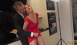 PASCALSSUBSLUTS - Lady Ashley Lane dominated in rub-down the kitchen