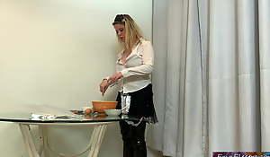 Lady fucks eradicate affect maid after she gives him eradicate affect wrong pills