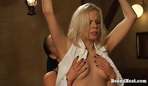 Horny Sapphist Madame Takes Big Strapon From Behind By Slave
