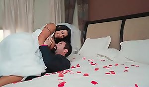 Busty bride acquires fucked hard apart from her give someone a thrashing on conjugal night
