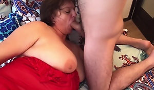 Mom caressed her son and had anal sex with him. Mother and son anal real