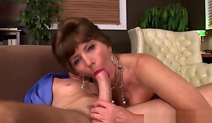 Suggestive Grandma Fucked In The Asshole