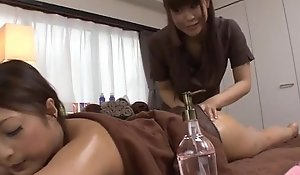 Magnificent massage occasion helter-skelter a lesbian babe for Maika