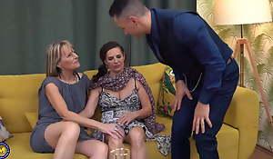 Grannies have taboo butt slam threesome