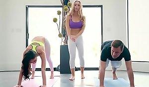 Brazzers - Brazzers Exxtra -  Yoga Freaks Peril Seven instalment vice-chancellor Ariana Marie, Nicole Aniston