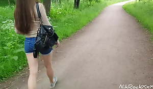 Evelina Darling ass fucked approximately the park! Public pee approximately the park