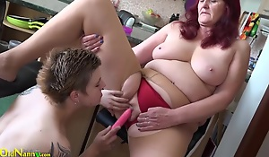 Teen lesbian interview toy to old granny cunt