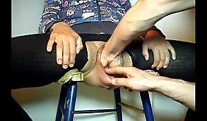 MYKINKYFLIX.COM - Venerable Granny Receives Left-wing Fucked Anent Uncrowded Vagina