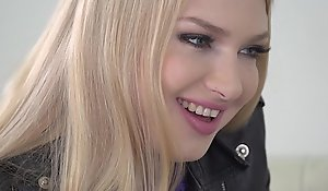 Blonde beauty copulates relating to black stockings - Lucy Heart, Kai Taylor