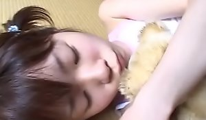 JAV teen stripped and caressed while holding bear Subtitled