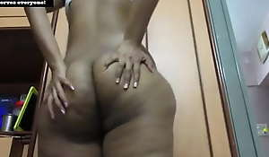 Fat Pest Horny Indian Tamil Babe Dancing In one's birthday suit