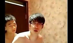 Handsome guy toilet sex