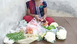 Indian girl selling vegetables hard fucking in human race pl