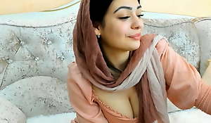 Busty Arab Girl Shows Her Hairy Pussy