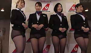 Group for Asian stewardesses getting fucked good and proper