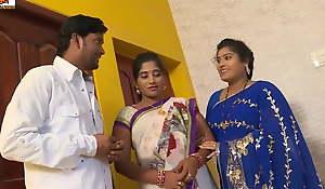 desi telugu sisters Pavitra and Bargavi have sex close by ancient boss