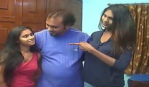 Andhra sisters Pavitra and Bavi copulation with old man